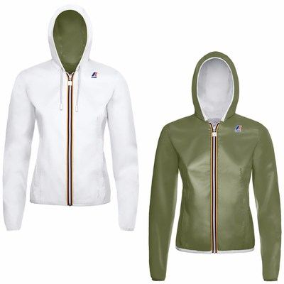 K-Way GIUBBINO white-green olive K002XN0