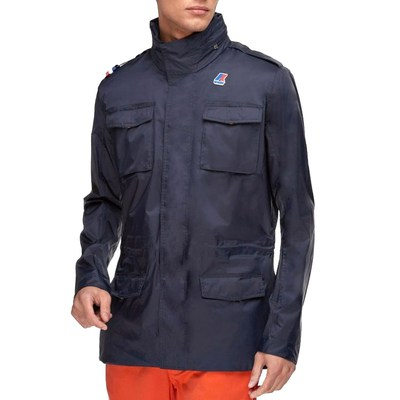 K-Way GIUBBINO MANFIELD NYLON JERSEY blu K007EA0