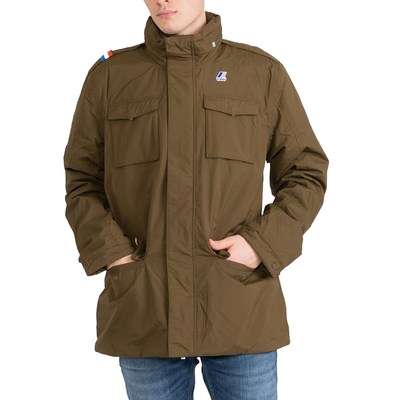 K-Way GIUBBINO MANFIELD RIPSTOP MARMOTTA brown oliva K0064K0